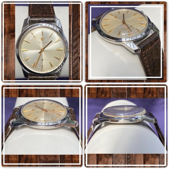 Croton Other - SOLD! 1950's Croton Men's Stainless Steel Watch